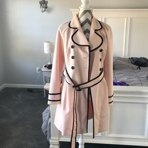 Pink lady's long jacket